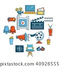 cinema, icon, set 40926555