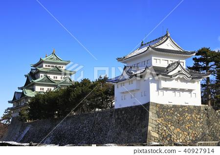 名古屋城堡 寒冬 城堡塔樓 40927914