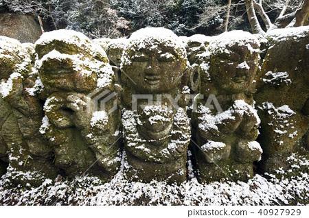 愛宕念仏寺 下雪 雪 40927929