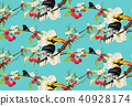 Tropical trendy seamless pattern with parrot bird. 40928174