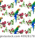 Tropical trendy seamless pattern with parrot bird. 40928178