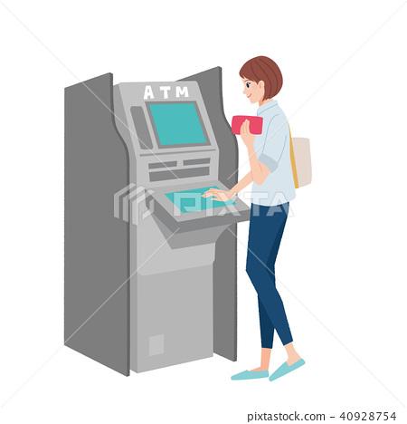 ATM女性例證 40928754