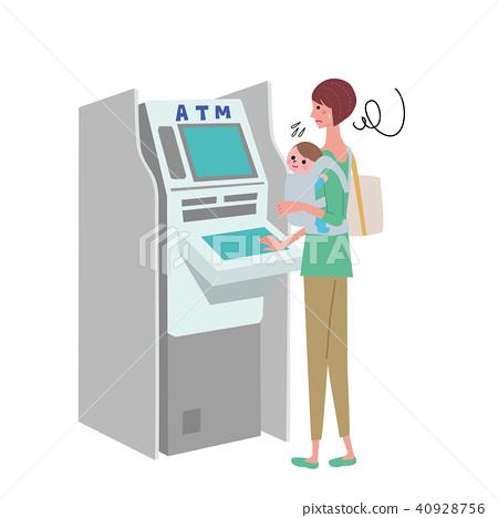 ATM女性例證 40928756