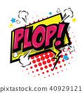 Plop! Comic Expression Vector Text. 40929121