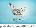 cart, 3d, shopping 40930473