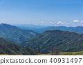 從Kenzan山頂部的四國山 40931497