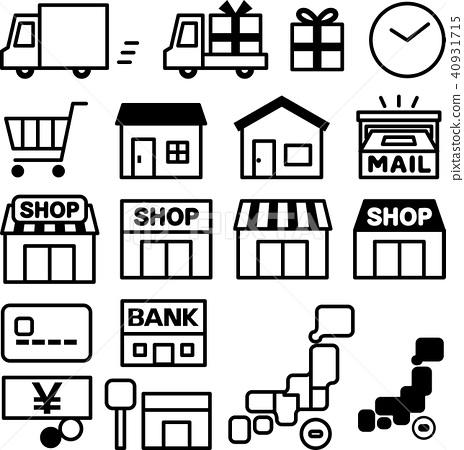 Delivery and shopping icon set 40931715