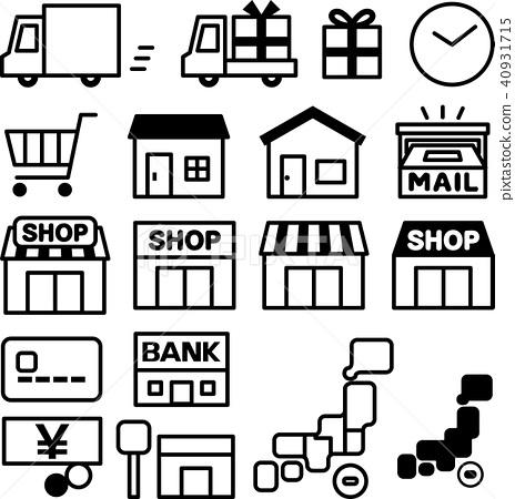 배송 및 쇼핑 아이콘 세트 40931715