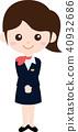 人們職業製服(女性)接待處接待 40932686