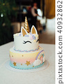 Kids birthday party decoration and cake. 40932862