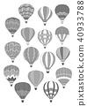 air, balloon, icon 40933788