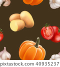 seamless pattern vegetable 40935237
