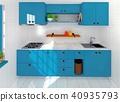 廚房擬真風格室內空間電腦繪圖3D 40935793