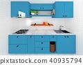 廚房擬真風格室內空間電腦繪圖3D 40935794