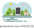 Smartphone  banking online concept countryside 40938326
