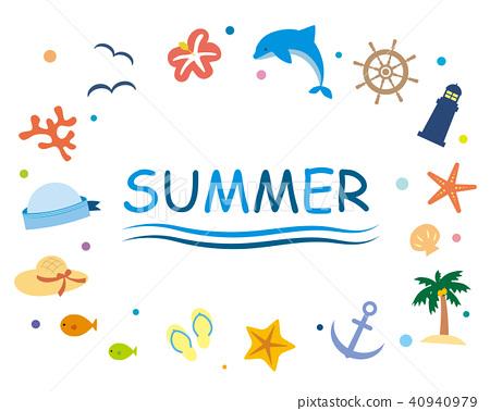 夏天 夏 框架 40940979