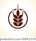 wheat icon vector 40942370