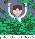 Rich man,Jackpot,Successful businessman,Money 40942574