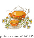 chamomile tea illustration 40943535