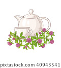 clover tea illustration 40943541