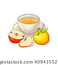 apple tea illustration 40943552