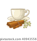 cinnamon tea illustration 40943556