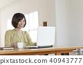 辦公室,喝咖啡,女士們 40943777