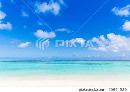 夏天图象海,海滩,蓝天 40944589