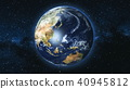 Realistic Earth Planet against the the star sky 40945812