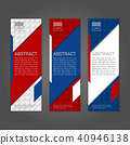 Geometric abstract banner background. 40946138
