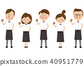 Pop eateries' waiters and waitress groups are guts posing 40951779