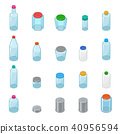 Glass jar vector empty mason glassware with lid or cover for canning and preserving illustration 40956594
