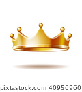crown, gold, isolated 40956960