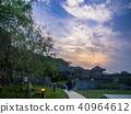 日本沖繩島那霸首里城堡日落 40964612