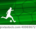 soccer player silhouette on  abstract background 40969672