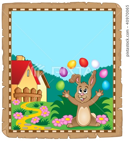 Parchment with Easter bunny topic 7 40970065