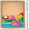 parchment, girl, float 40970071