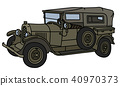 The vintage military car 40970373