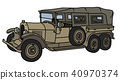 The vintage military car 40970374