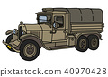 The vintage military truck 40970428