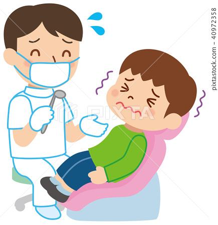 一個牙醫和一個孩子害怕 40972358