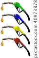 set of fuel nozzle hose, Red, Green, Yellow, Blue 40973878