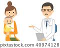 白色外套的男性詢問諮詢考試嬰孩 40974128