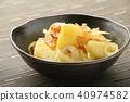 감자와 베이컨 올리브 오일 볶음 40974582