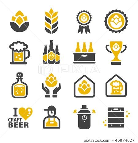 Craft Beer Icon Stock Illustration 40974627 Pixta Search icons & icon packs search icons search icon packs. https www pixtastock com illustration 40974627