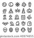 halloween icon set 40974655