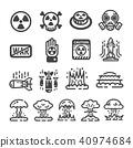 nuclear war icon 40974684