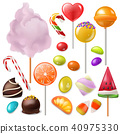 Candy vector sweet food dessert lollipop or caramel bonbon in confectionery or candyshop 40975330