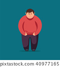 Angry Fat man. Vector flat illustration 40977165