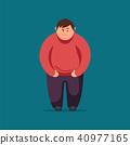 man, fat, illustration 40977165